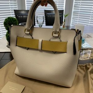 Burberry Bags - White leather bag-- new with tags. Never used.